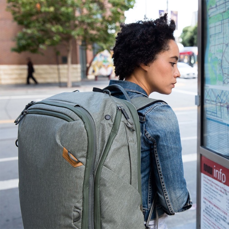 Peak design travel backpack compartments